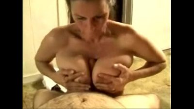 Amateur Milf Blowjob Boobjob and Facial