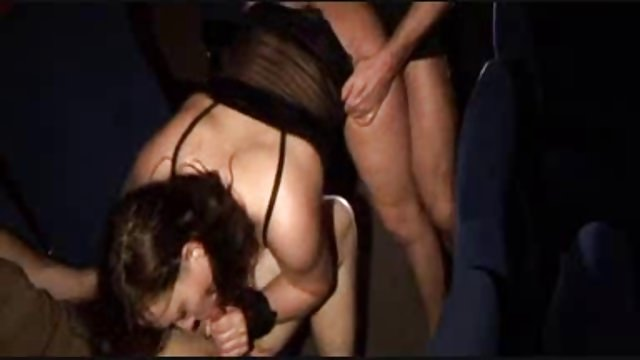 orgy in cinema lesbians and oral sex