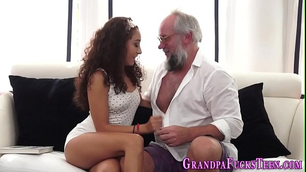 Teen spermed by old perv